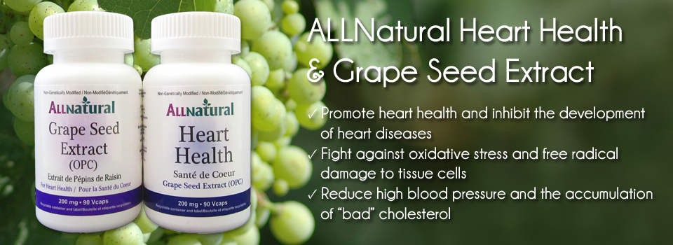 ALLNatural Heart Health & Grape Seed Extract